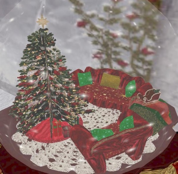 EbE Christmas Snow Globe (Living Room)(red) inset