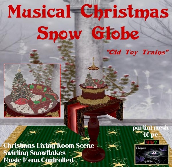 EbE Christmas Snow Globe (Living Room)(red)inset ADt