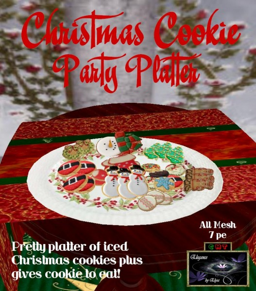EbE Christmas Cookie Party Platter ADc