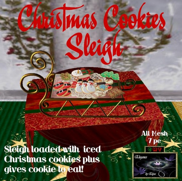 EbE Christmas Cookie Sleigh ADc