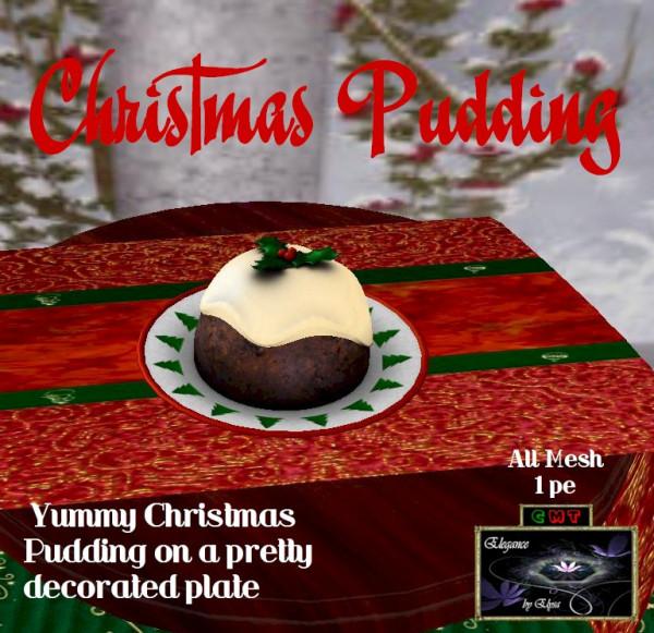EbE Christmas Pudding on Plate ADc