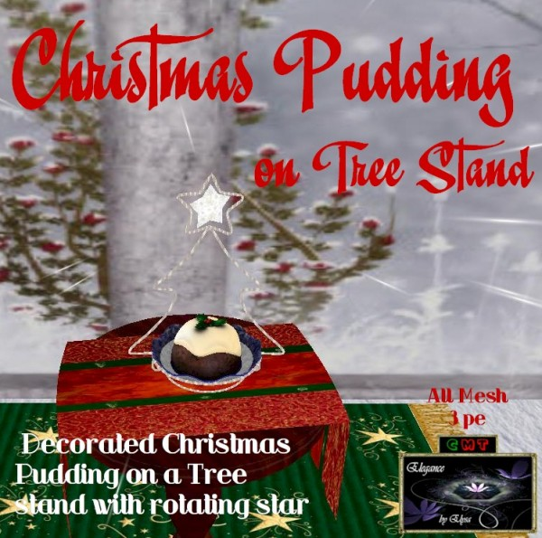 EbE Christmas Pudding on Tree Stand ADc