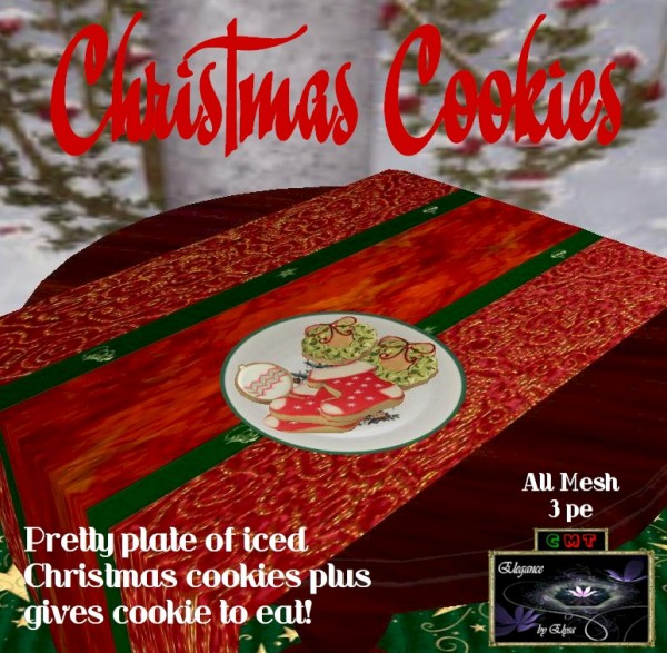 EbE Plate of Christmas Cookies #1 ADc