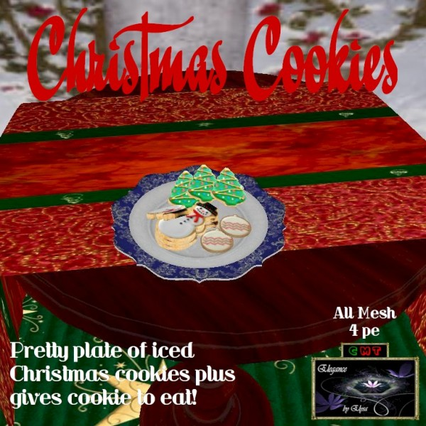 EbE Plate of Christmas Cookies #2 ADc