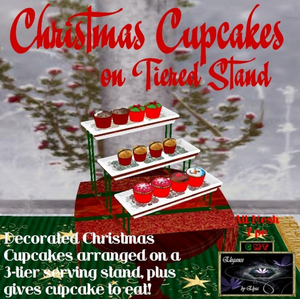 EbE Tier of Christmas Cupcakes ADc