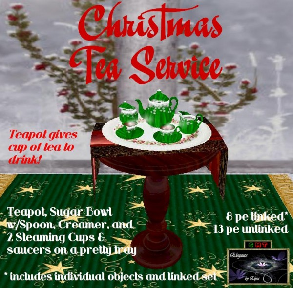 EbE Christmas Tea Service (snowflake green) ADc