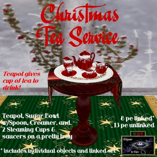 EbE Christmas Tea Service (snowflake red) ADc