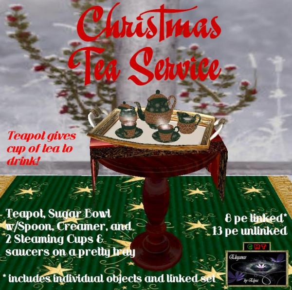 EbE Christmas Tea Service (Venetian green) ADc