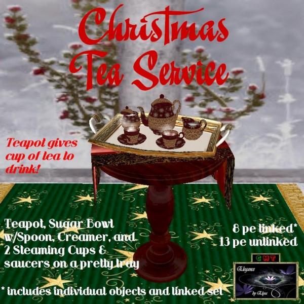 EbE Christmas Tea Service (Venetian red) ADc
