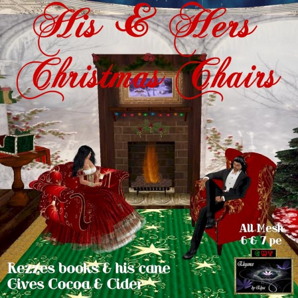 EbE His & Hers Christmas Chairs ADc