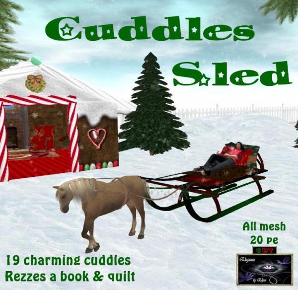 EbE Cuddles Sled wHorse ADc