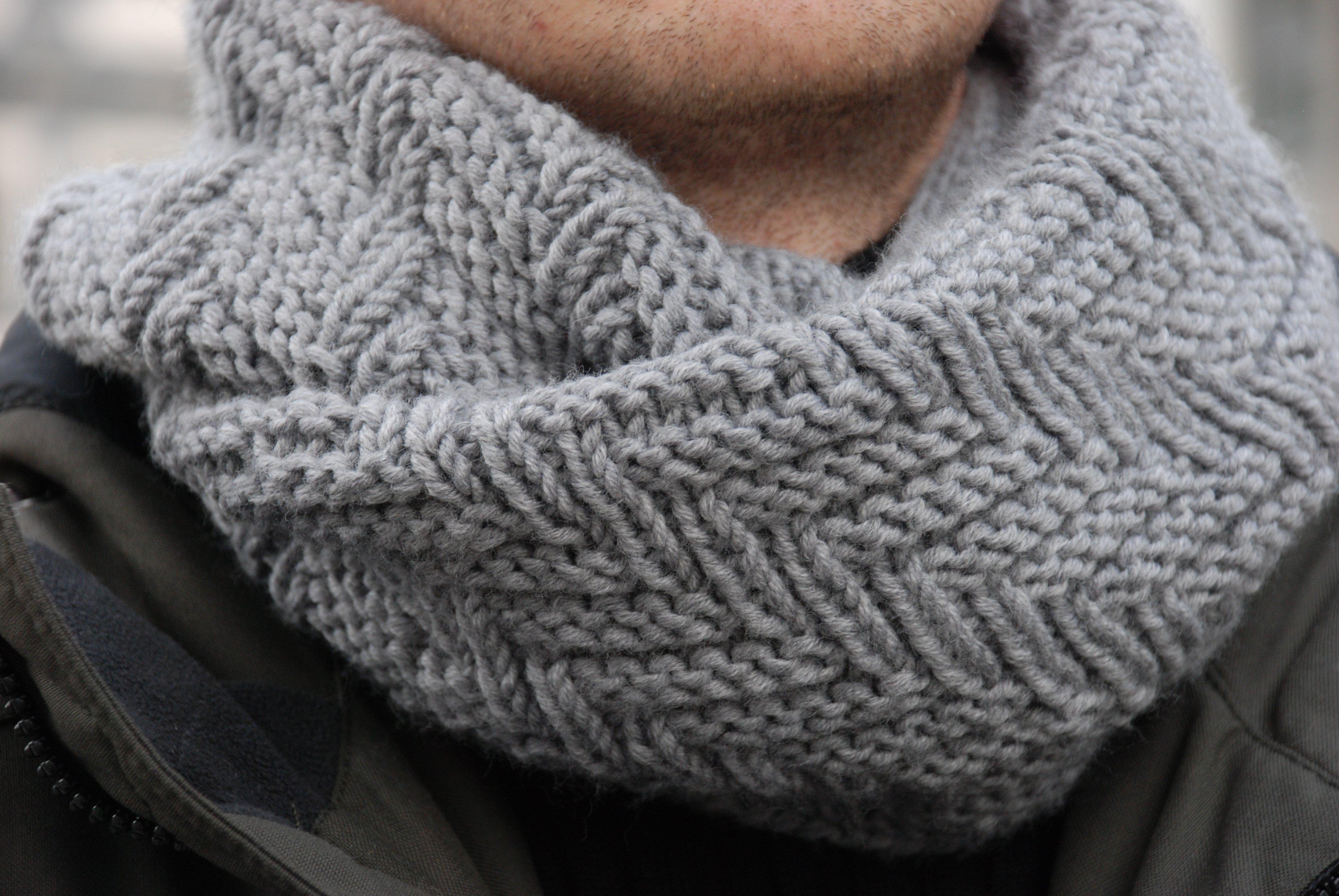 Мужской шарф своими руками спицами