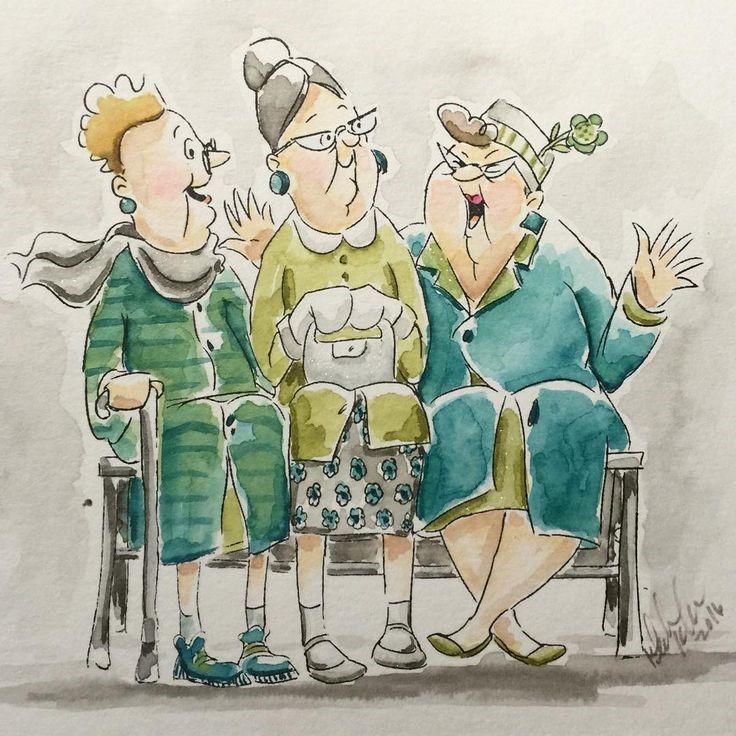 Карикатуры Ольги Громовой бабки