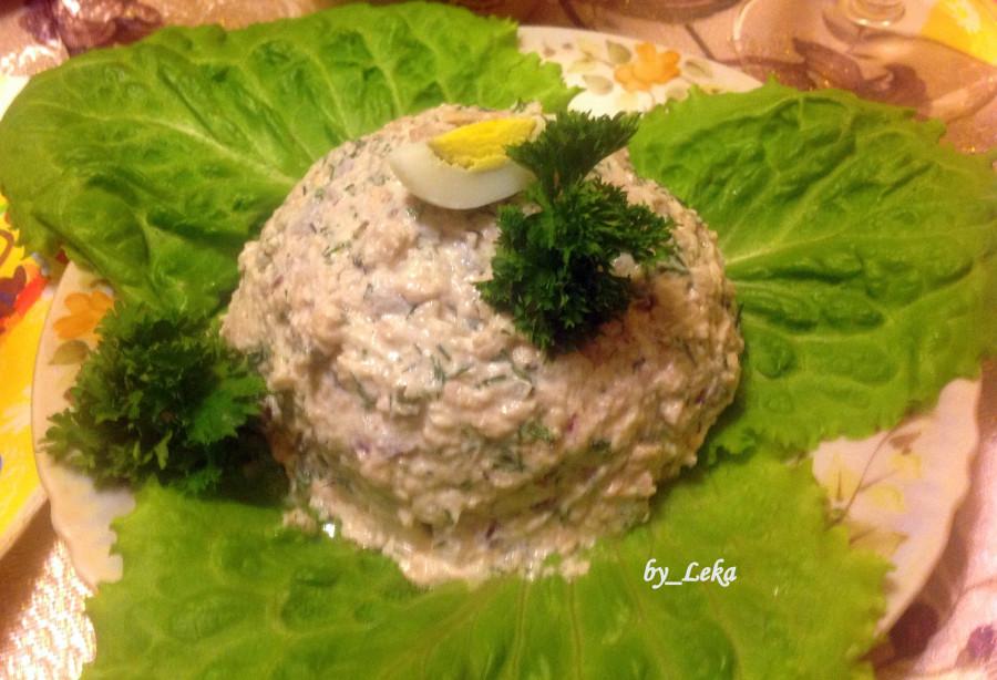 Салат из паштета печени трески рецепт с очень вкусный