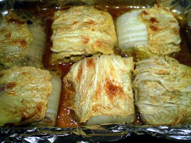 Голубцы с пекинской капустой в духовке рецепт пошагово