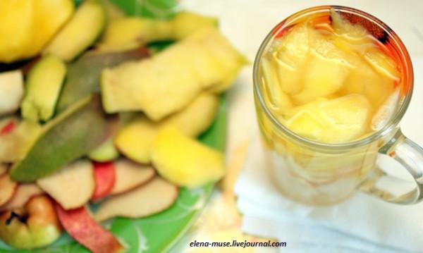 Мангово-грушевый напиток с ароматом ванили
