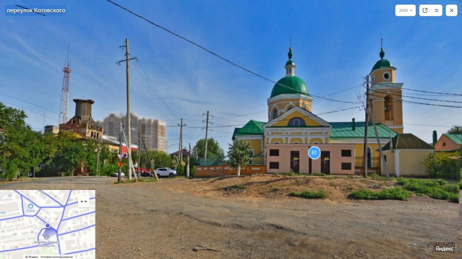 Каланча и храм Иоанна Златоуста