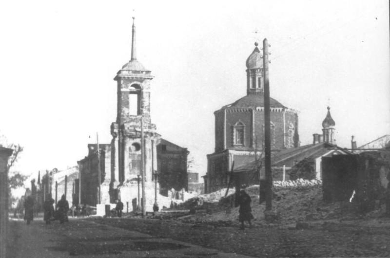 Входо-Иерусалимская церковь после пожара 1918 года