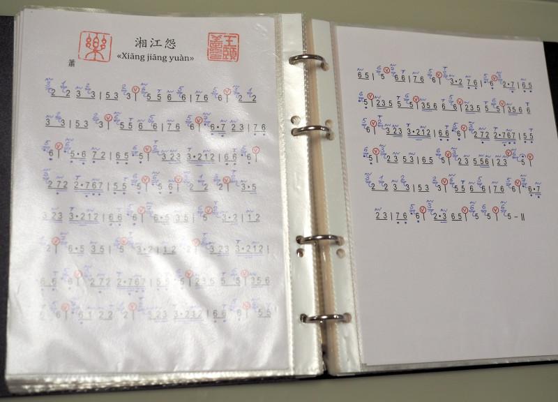 """А это """"ноты"""" по китайски. Найдется отважный читатель способный это расшифровать?"""