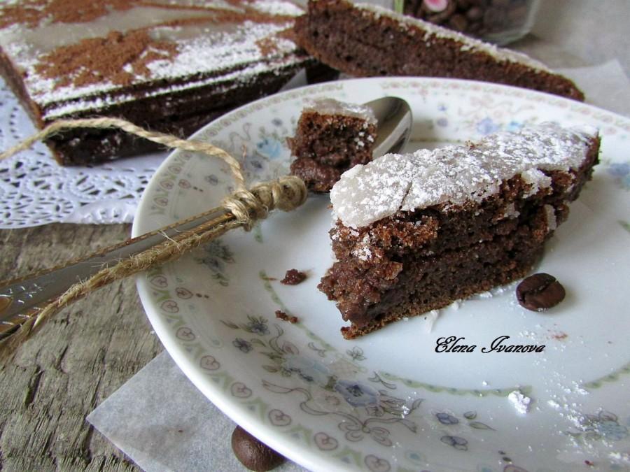 Пирог с шоколадом внутри рецепт пошагово