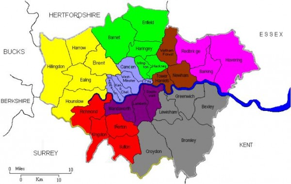 London District Map