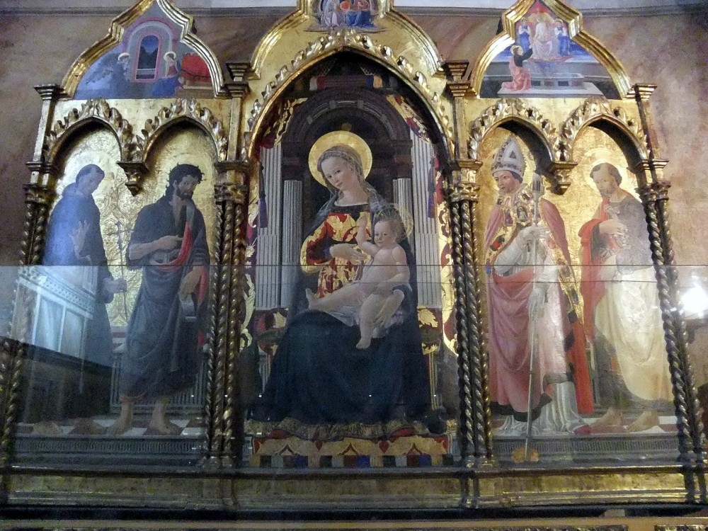 Часовня Марии Магдалины.  Мадонна с Младенцем, святым Франциском, Иоанном Крестителем, св. Николаем и Св. Петром..JPG