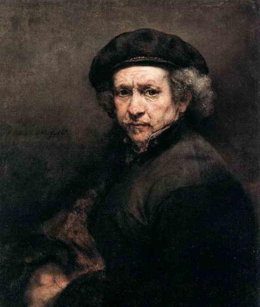 Автопортрет Рембранда. Моя копия