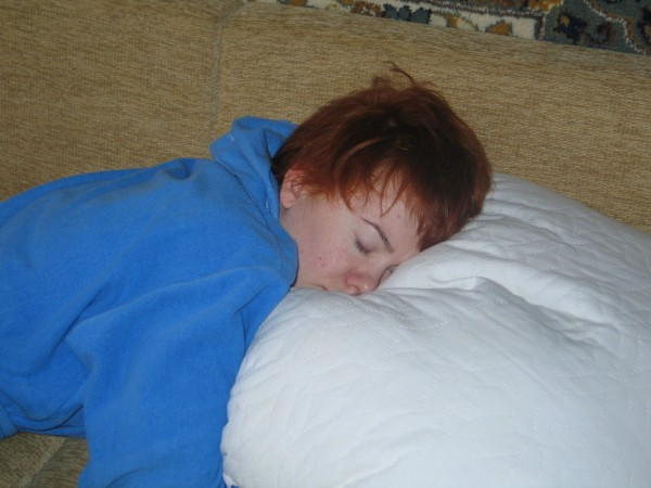 в подушку