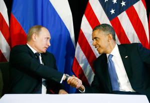 президент Путин и президент Обама