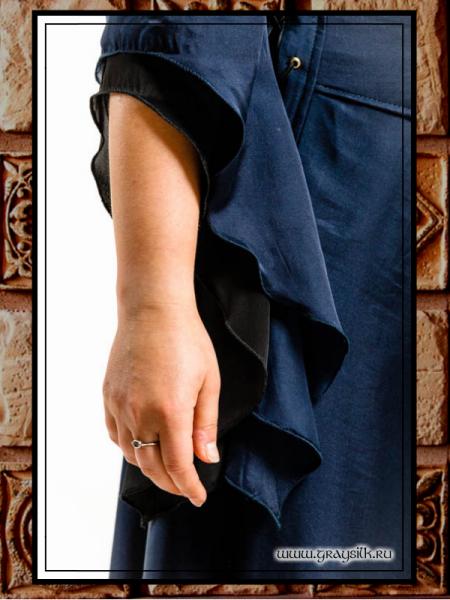Чёрно-синее рукав