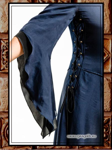 Чёрно-синее шнуровка