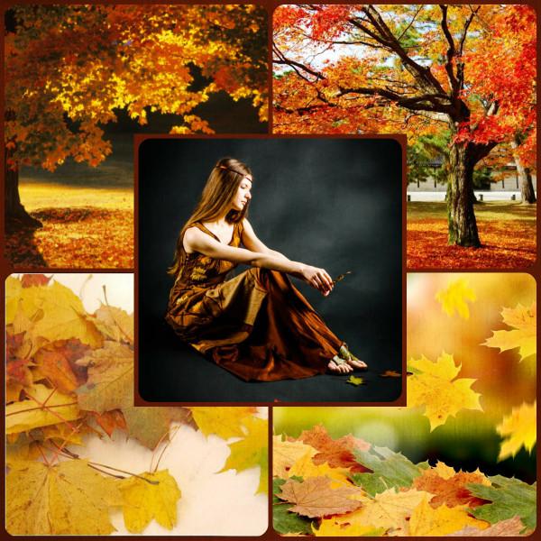 Tree dress collage