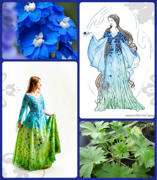 Blueflowers collage