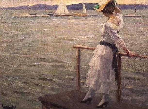 Edward Cucuel - - Girl by the Sea