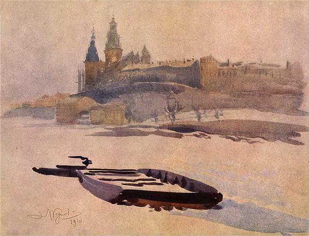 Leon Jan Wyczolkowski - Wawel od strony Zwierzynca
