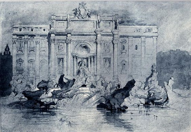 John Ruskin - The Fountains of Trevi, Rome