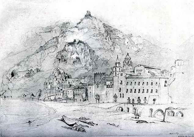 John Ruskin - Amalfi 1841