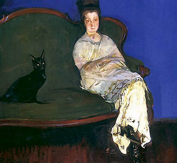 Konrad Krzyzanowski - wife with a cat