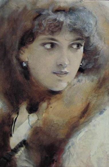 Ludek Alois Marold - Portrait of young lady