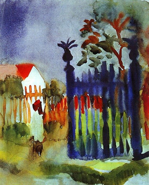 August Macke  - Garden Gate