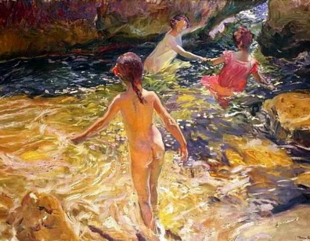 Joaquin Sorolla y Bastida The Bath