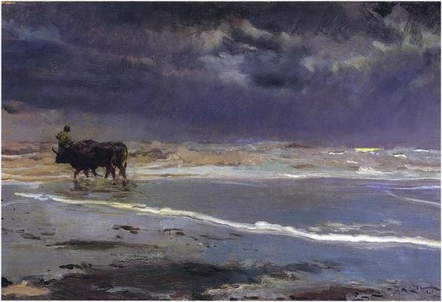 Joaquin Sorolla y Bastida  Gray day on Valencia beach