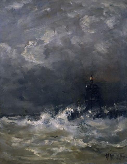 Hendrik Willem Mesdag - Lighthouse in Breaking Waves