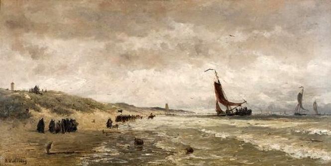 Hendrik Willem Mesdag - Aankomst van de vissersvloot