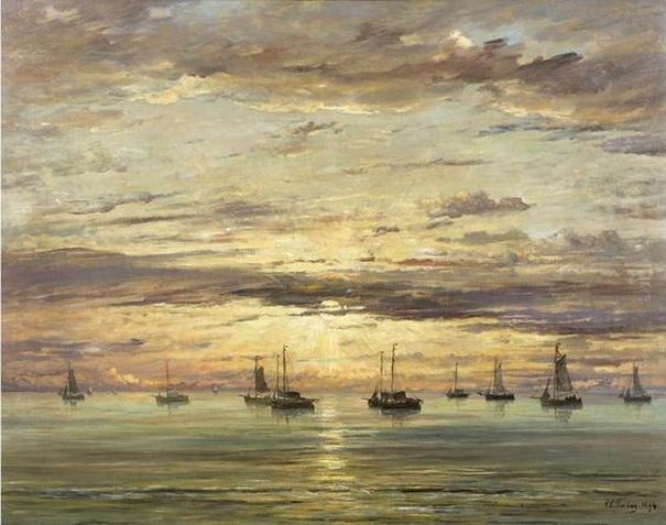 Hendrik Willem Mesdag - Sunset_at_Scheveningen