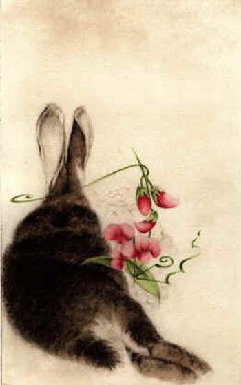 CCBarton Rabbit With Sweet Peas