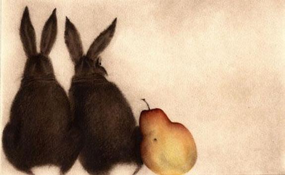 CCBarton Still life of grapes and pear