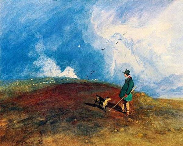 John Sell Cotman - The Shepherd on the Hill