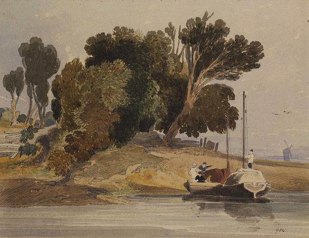 John Sell Cotman - River Scene