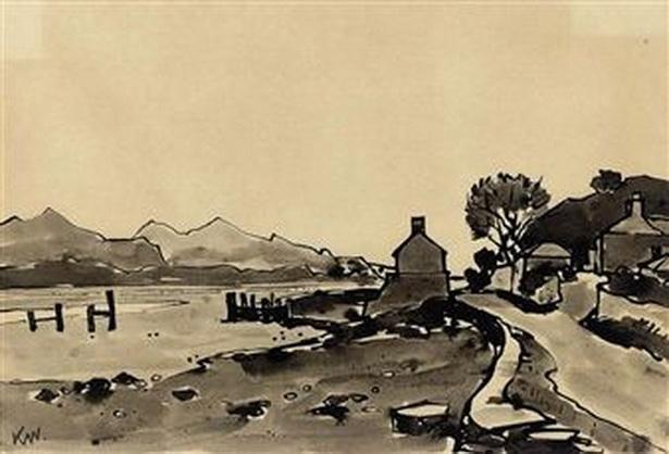 Kyffin Williams - Menai Straits
